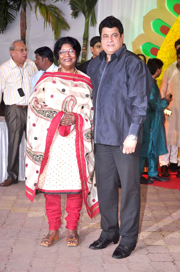 Gajendra Chauhan with his wife