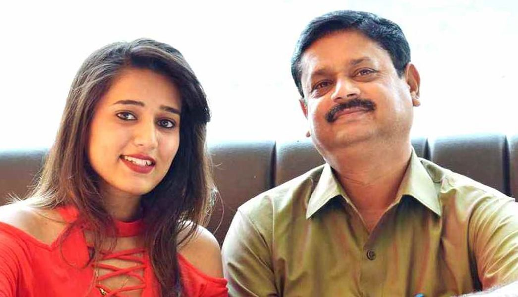 Garima Chaurasia with her Father