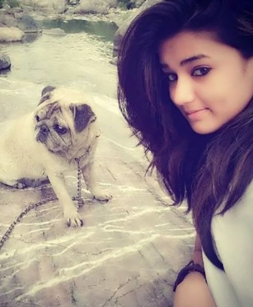 Garima Chaurasia with her Pet