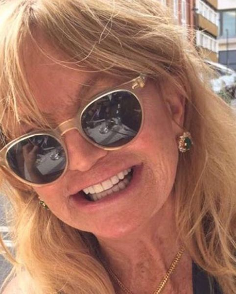 Goldie Hawn wearing Jewellery Designed by Riddhima Sahni