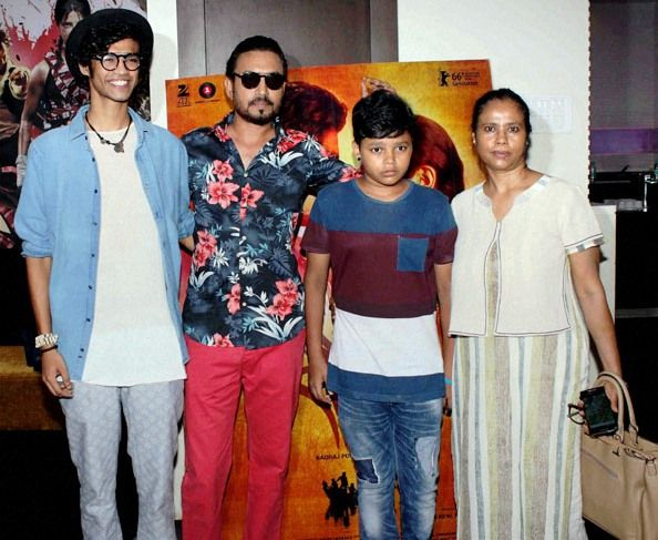 Irrfan Khan With His Wife and Sons