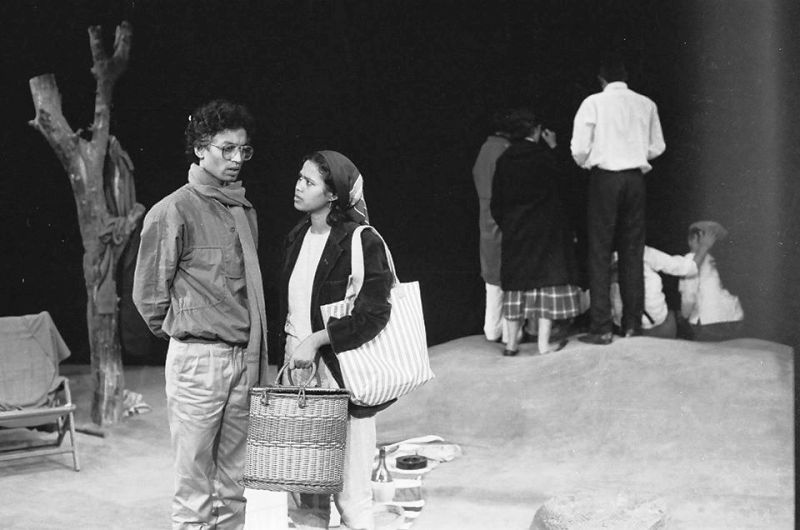 Irrfan Khan and Sutapa Sikdar in a Theatre Play
