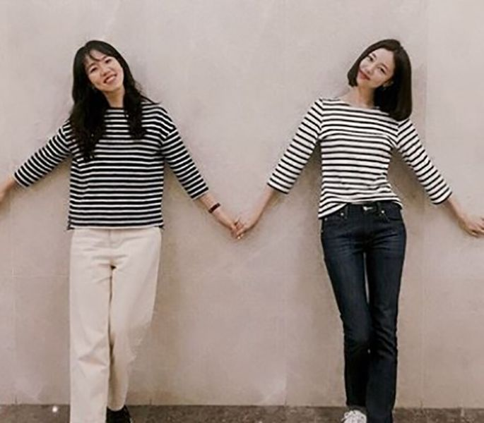 Kim Ye-won with her Sister