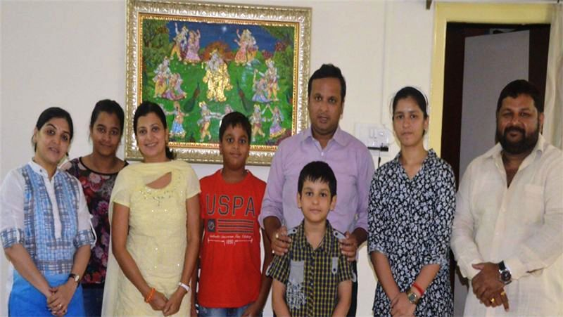 Lav Agarwal With His Family