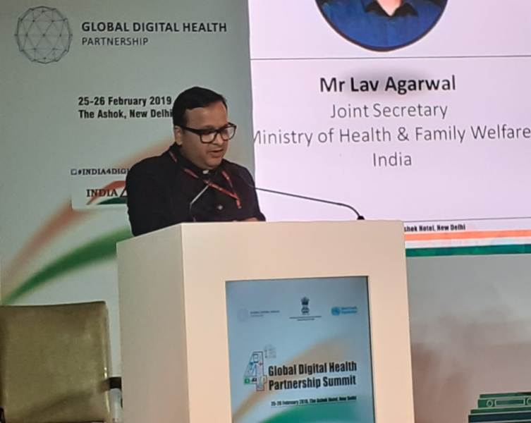 Lav Agarwal expressing his gratitude towards the delegates & attendees at the 4th GDHP Summit in New Delhi