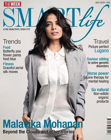 Malavika Mohanan on the cover of the SMARTlife Magazine