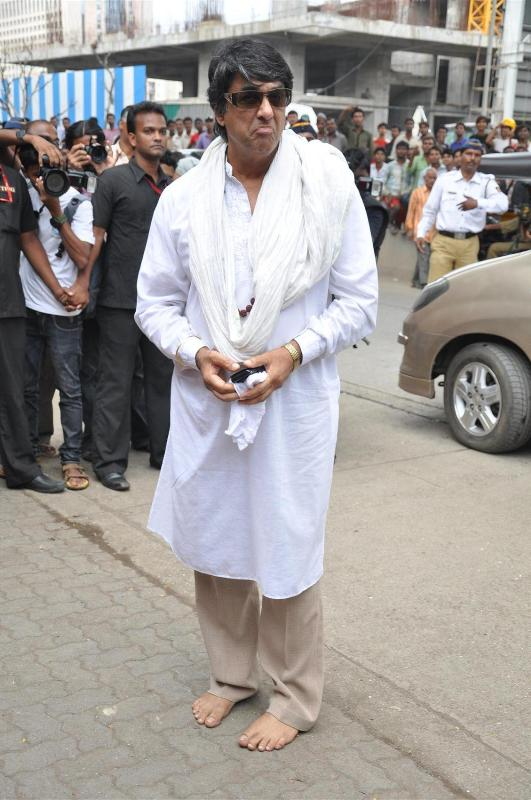Mukesh Khanna during a shoot