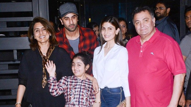 Neetu Singh With Her Family