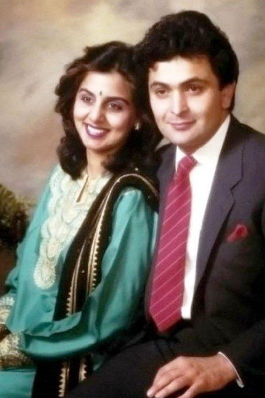 An old photo of Rishi Kapoor and Neetu Singh