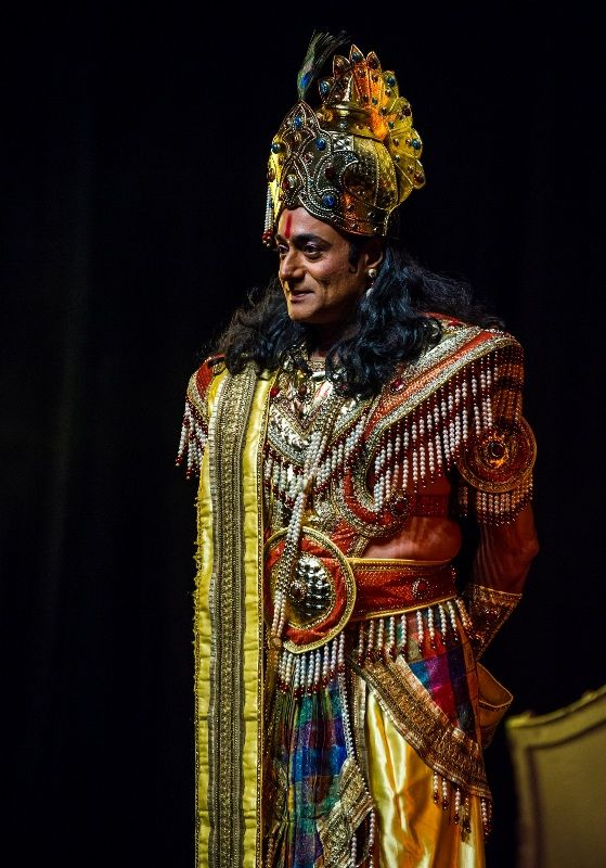 Nitish Bharadwaj in the costume of Lord Krishna at an event