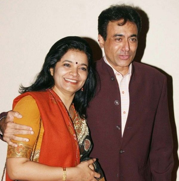 Nitish Bharadwaj with his second wife Smita Gate