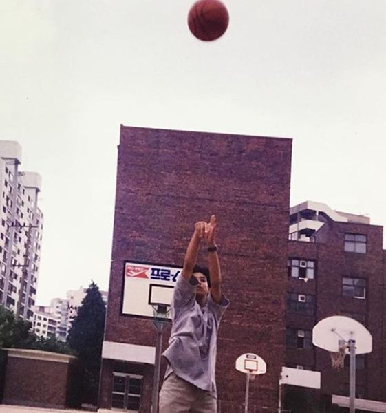 Oh Chang-seok Playing Basketball During his Middle School Days