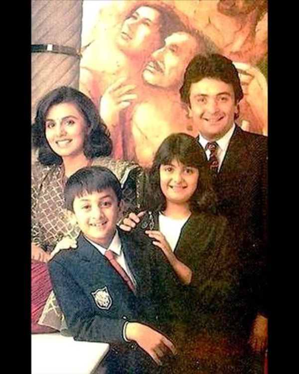 Old Photo of Neetu Singh With Her Family