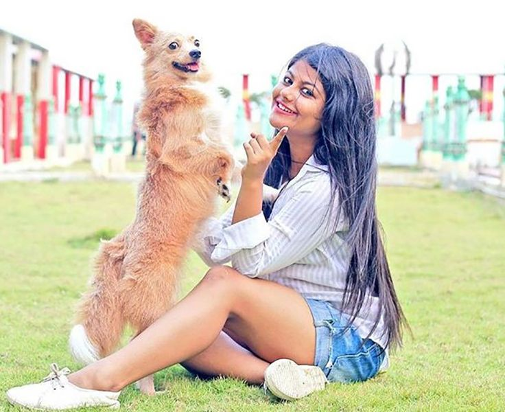 Pallavi Mukherjee with her Pet