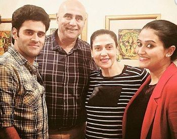 Puneet Issar with his family