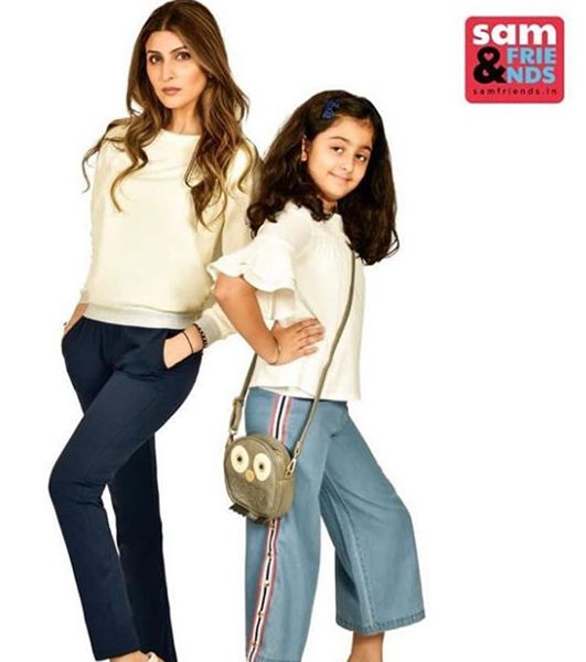 Riddhima Kapoor Sahni Modelling for 'Sam & Friends' with her Daughter