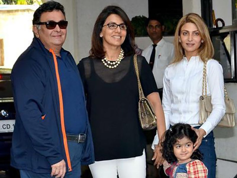 Riddhima Kapoor Sahni with her Parents