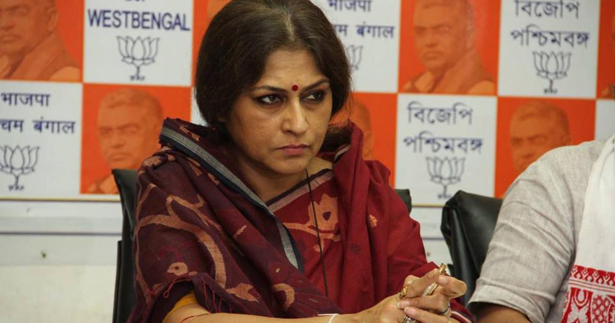 Roopa Ganguly during BJP's meeting