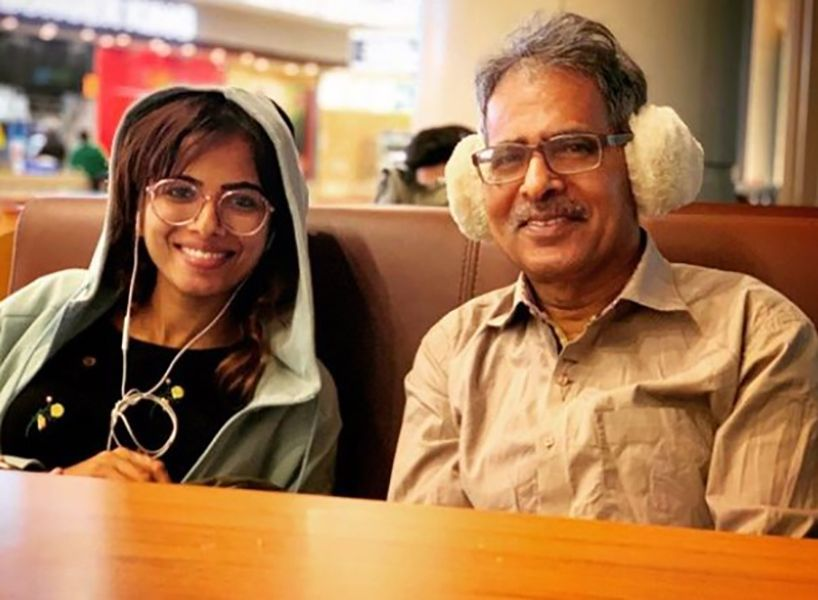 Sanah Moidutty with Her Father