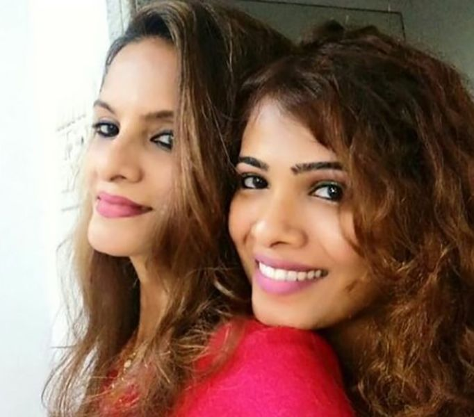 Sanah Moidutty with her Mother