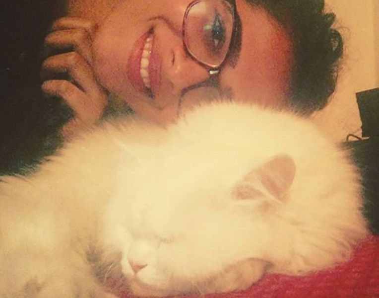 Sanah Moidutty with her Pet