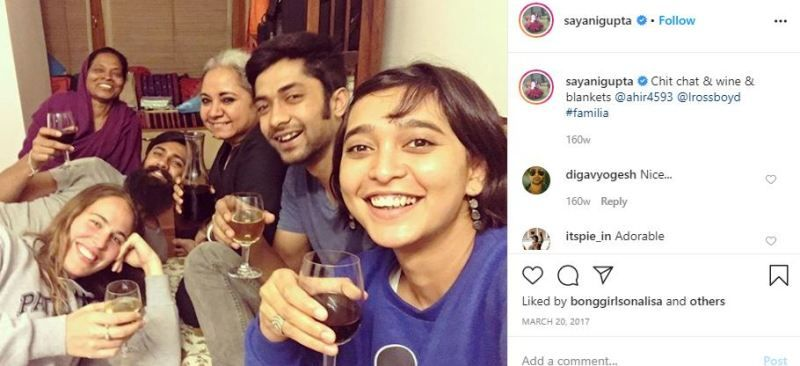 Sayani Gupta With a Glass of Wine