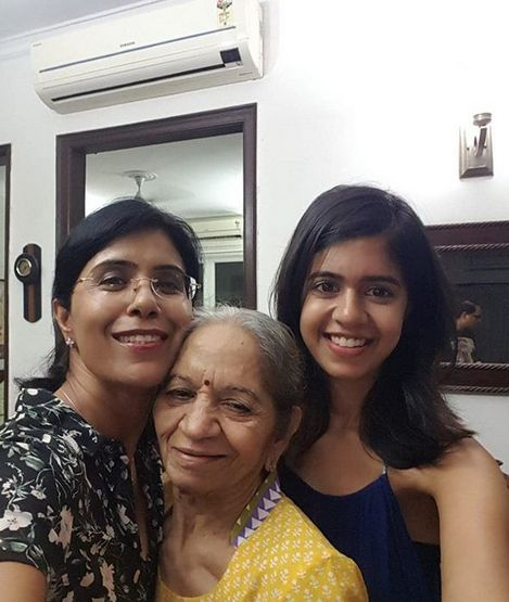 Sejal Kumar with her mother and maternal grandmother