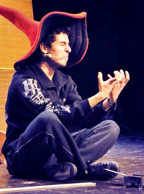 Shadi Mar'i Performing in a Theatre Play
