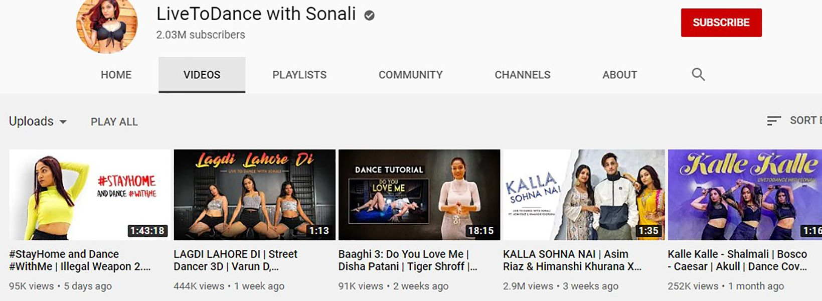 Sonali Bhadauria-YouTube Channel