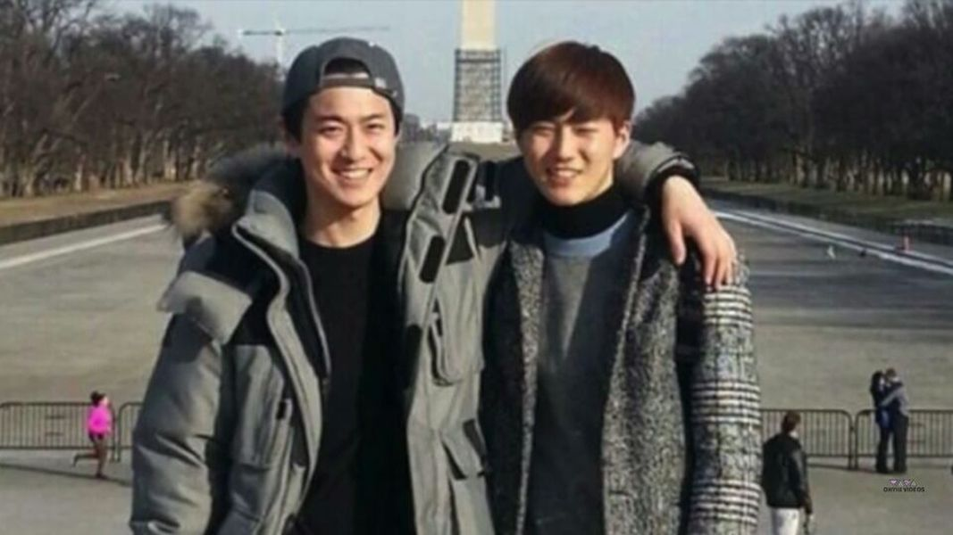 Suho with his Brother