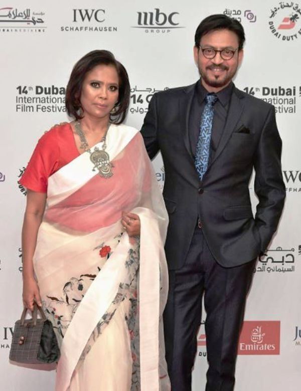 Irrfan Khan With His Wife Sutapa Sikdar