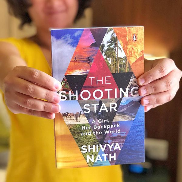 Shivya Nath with her book The Shooting Star (2018)