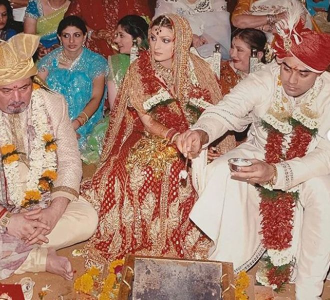 Wedding Picture of Bharat Sahni and Riddhima Kapoor