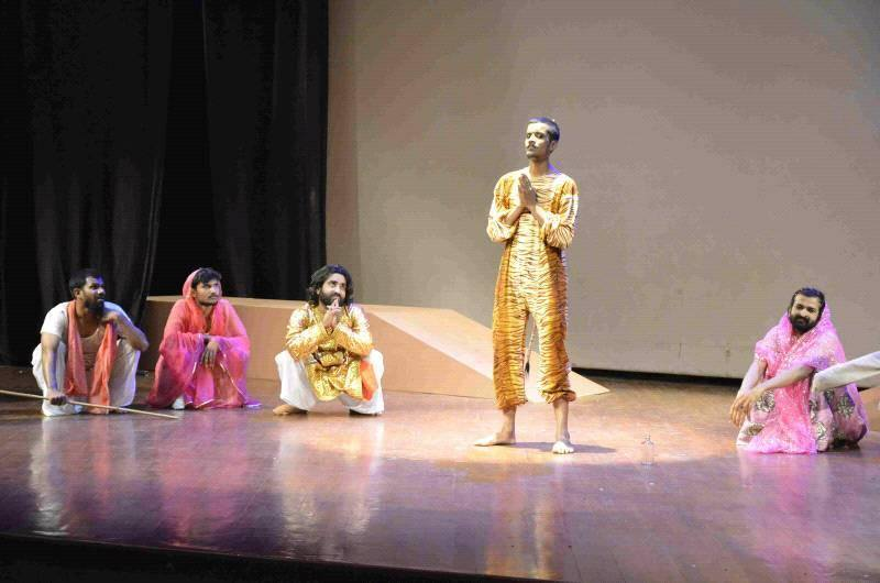 Aasif Khan Acting in a Theatre Play