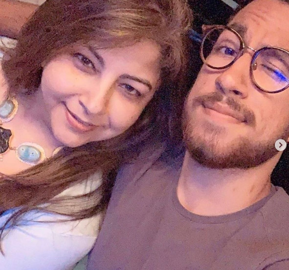 Akash Ahuja With His Mother