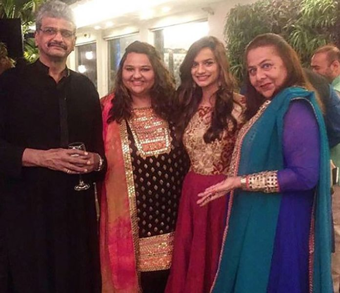 Aneesha Shah with her Family