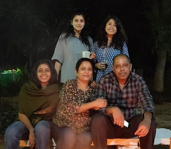 Anisha Victor with her family