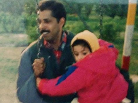 Anisha Victor with her father