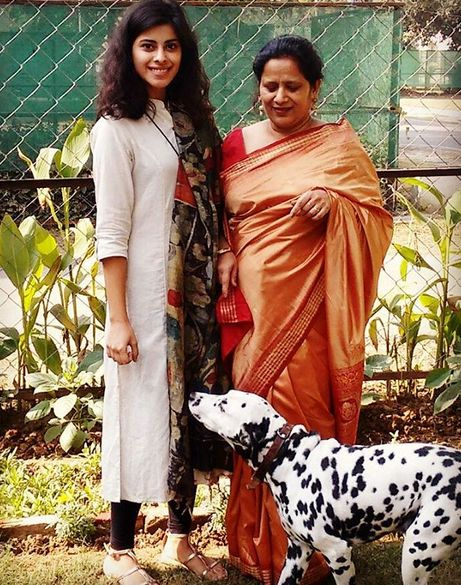 Anisha Victor with her mother