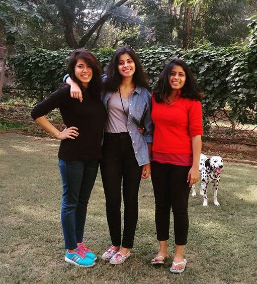 Anisha Victor with her sisters