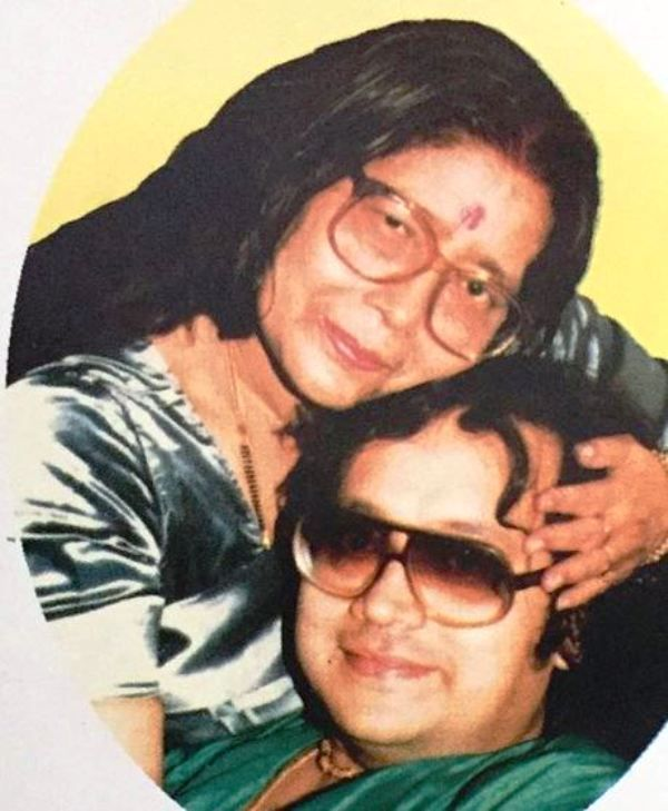 Bappi Lahiri With His Mother