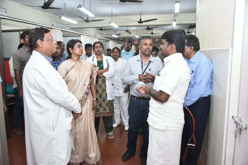Beela Rajesh Visiting a Health Facility in Tamil Nadu
