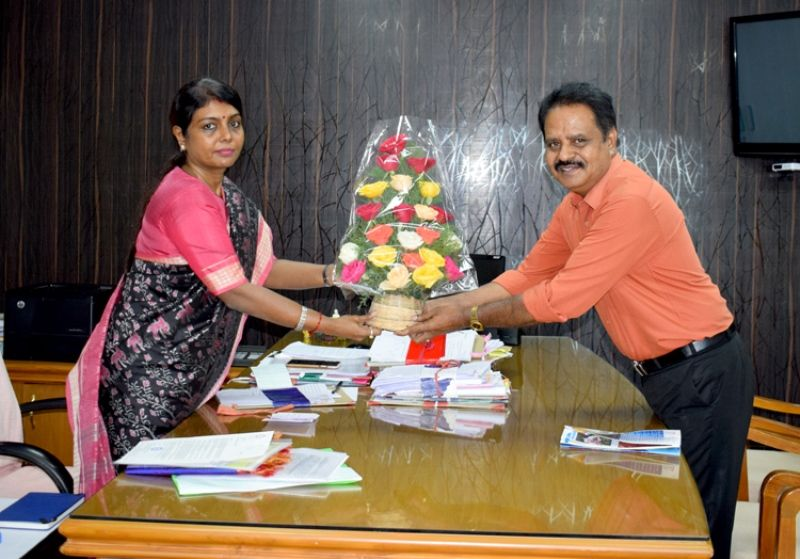 Beela Rajesh in Her Office