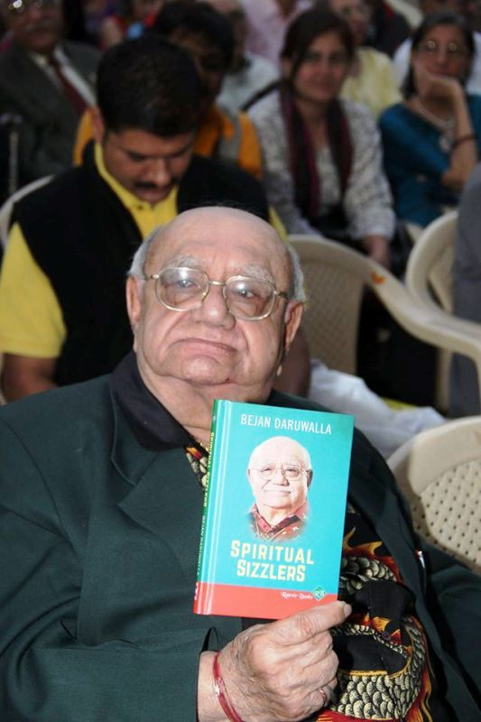 Bejan Daruwalla With His Book