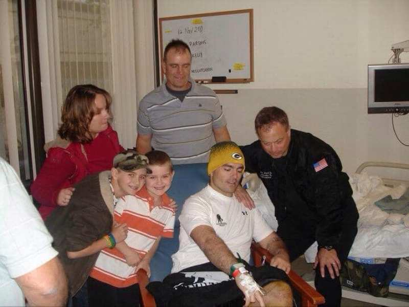 Brian Eisch With His Wife Maria, two sons, and his brother Shawn Eisch