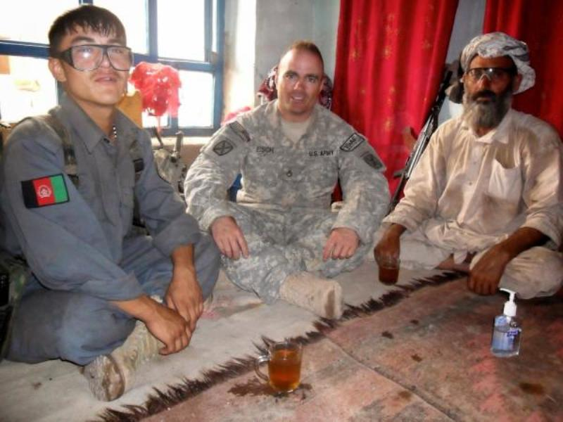 Brian Eisch With an Afghan Policeman in Afghanistan