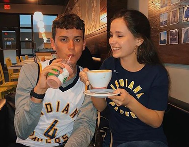 Brooklyn Wittmer with her Brother