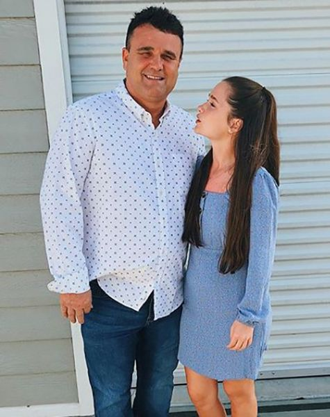 Brooklyn Wittmer with her Father
