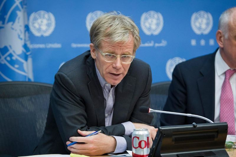 Bruce Aylward during his stint at the United Nations Office for the Coordination of Humanitarian Affairs (OCHA)