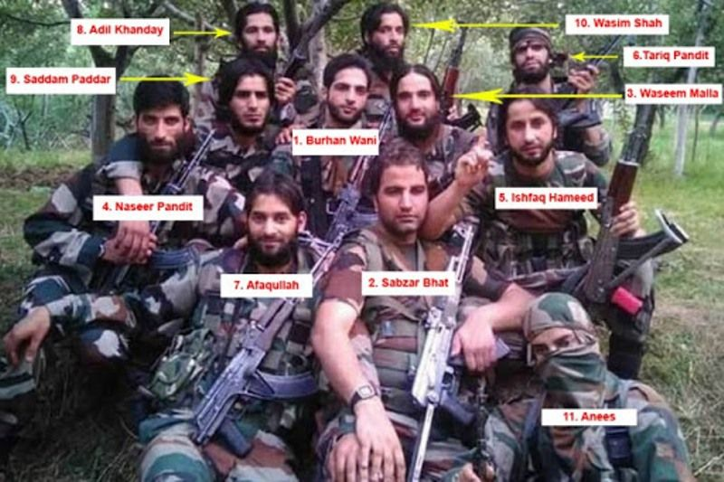 Burhan Wani and his Gang